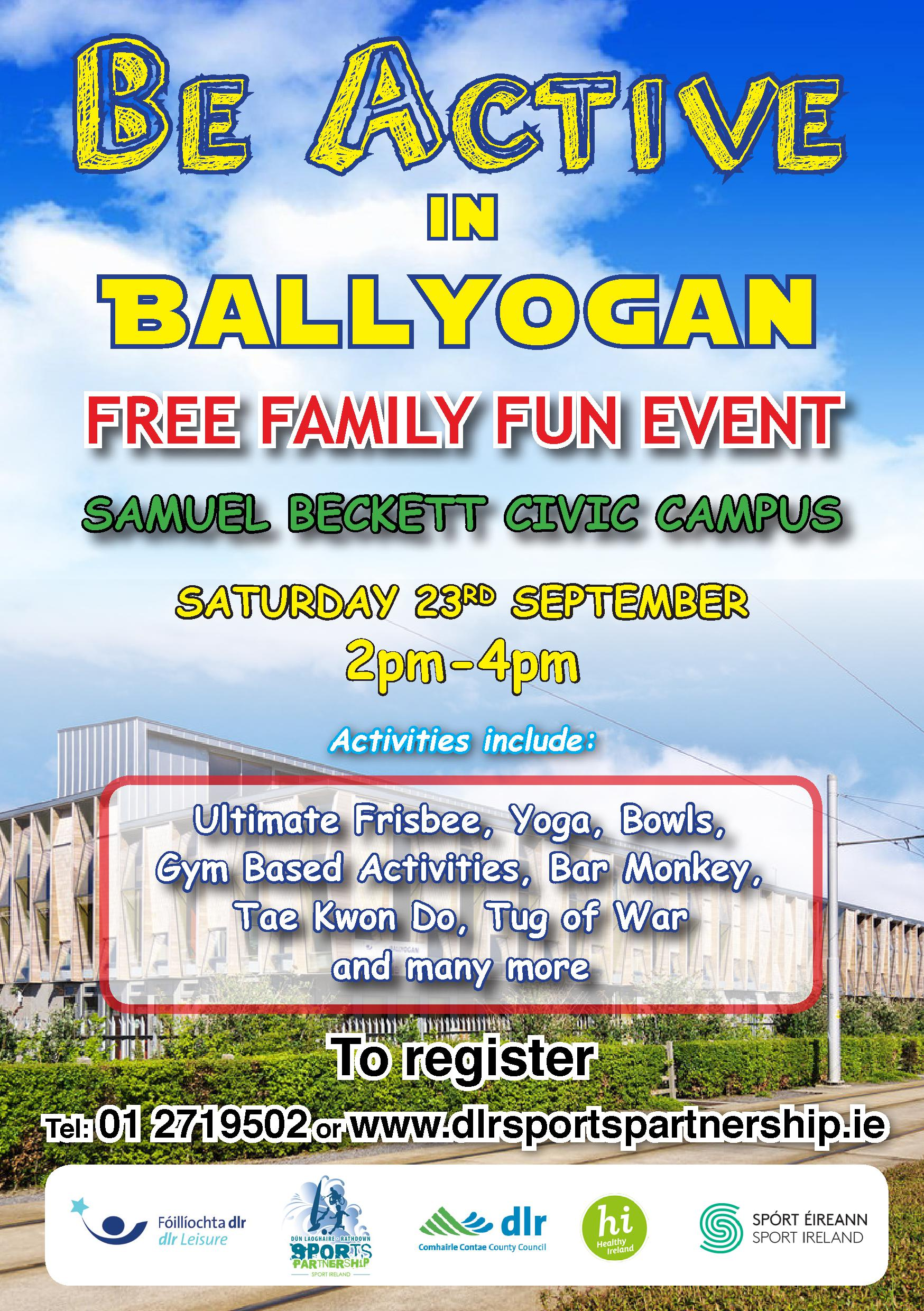 Be Active in Ballyogan