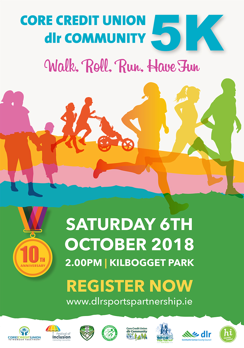 Core Credit Union dlr Community 5K 2018 Poster