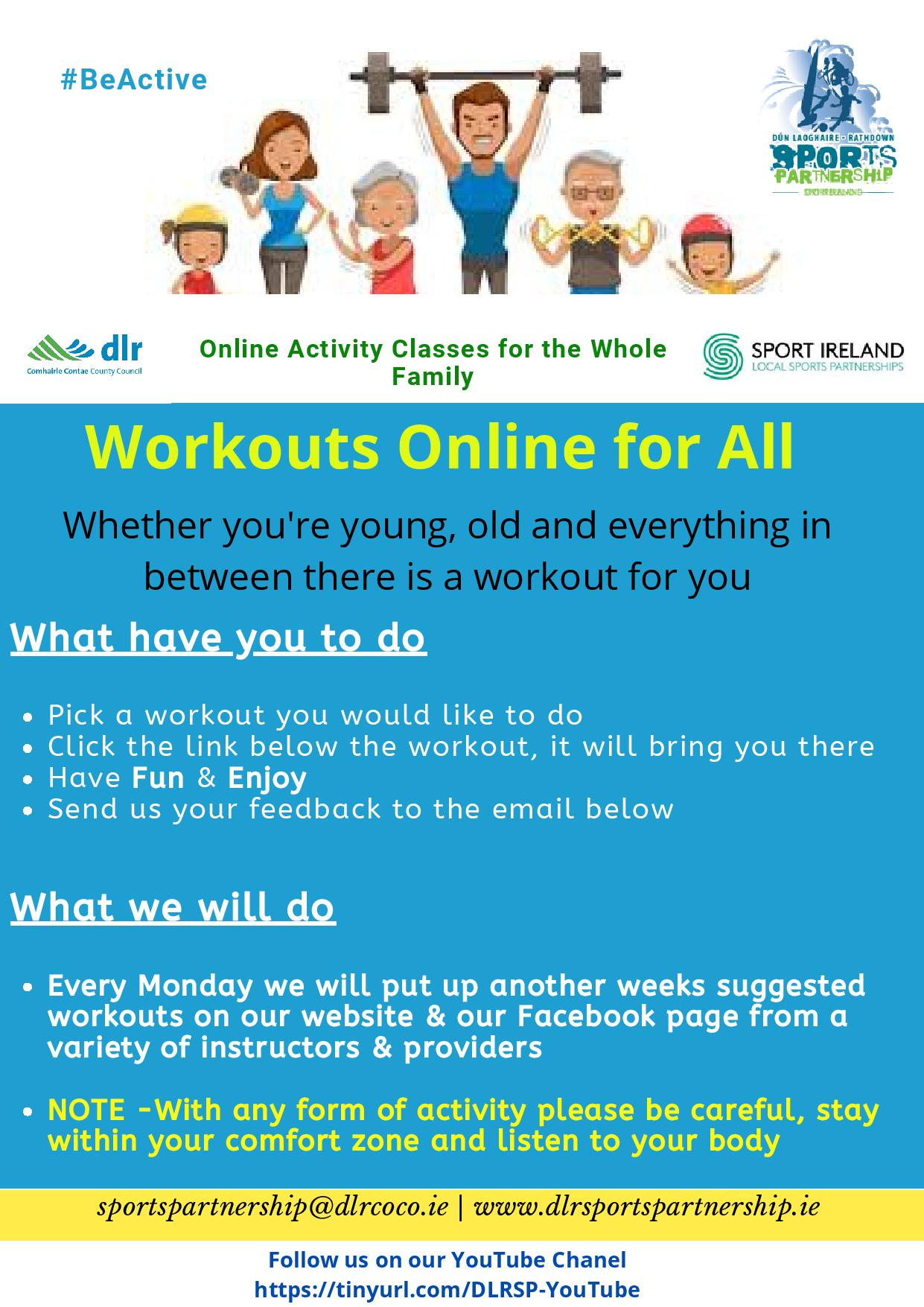 DLRSP Online Workouts Flyer 001