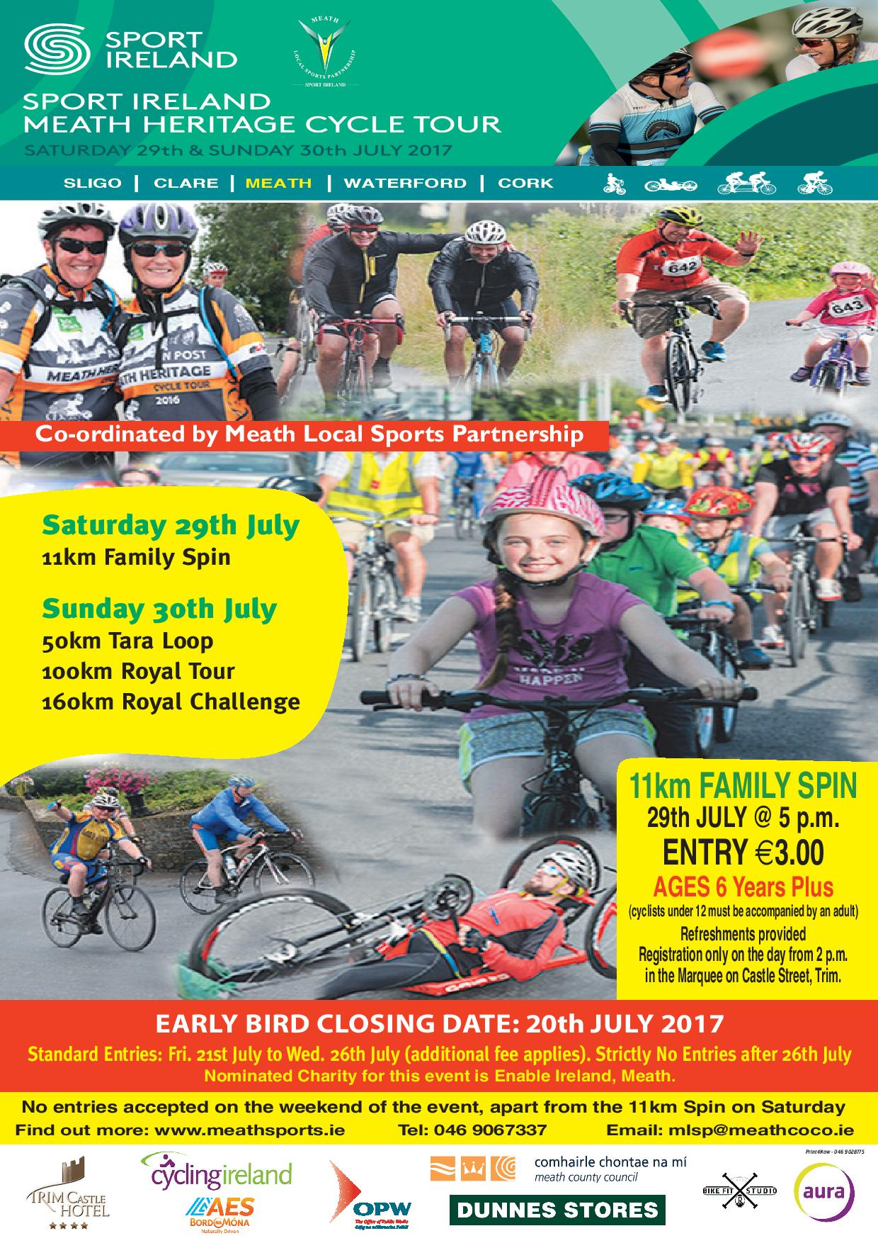 Meath Heritage Cycling 2017 Poster