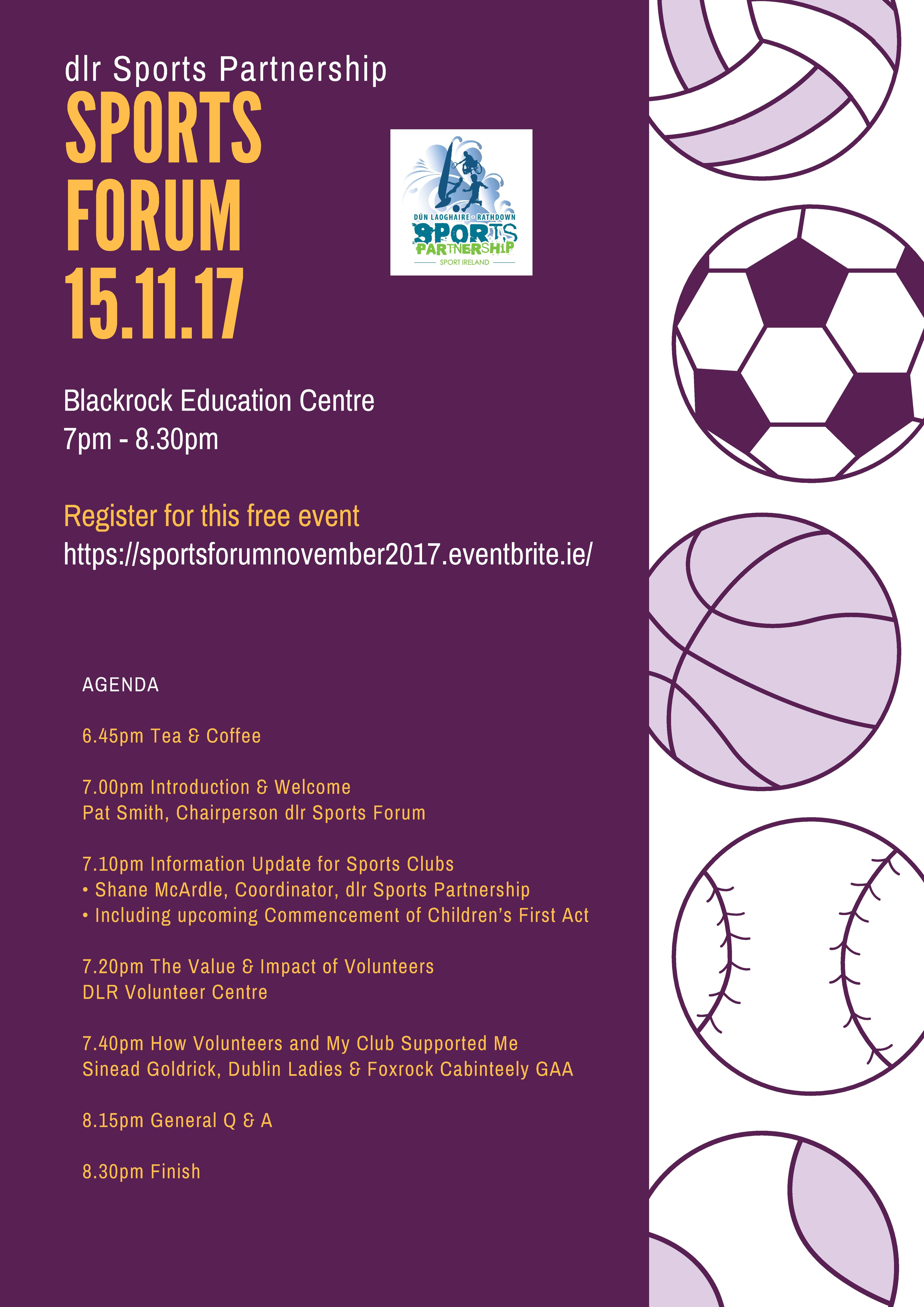 Sports Forum Novemeber 2017 Flyer Jpeg Compressed