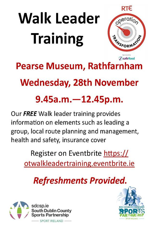 Walking Leader Training Flyer