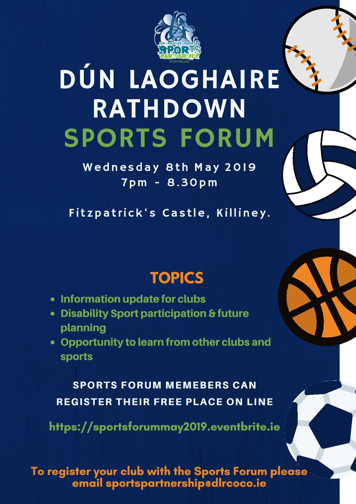 dlr Sports Forum Meeting May 2019
