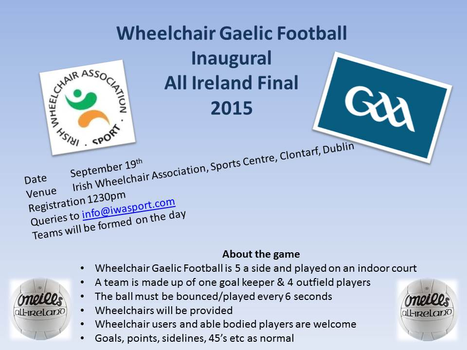 Wheelchair Gaelic Football poster